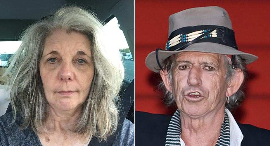 Linda Cullen and Keith Richards