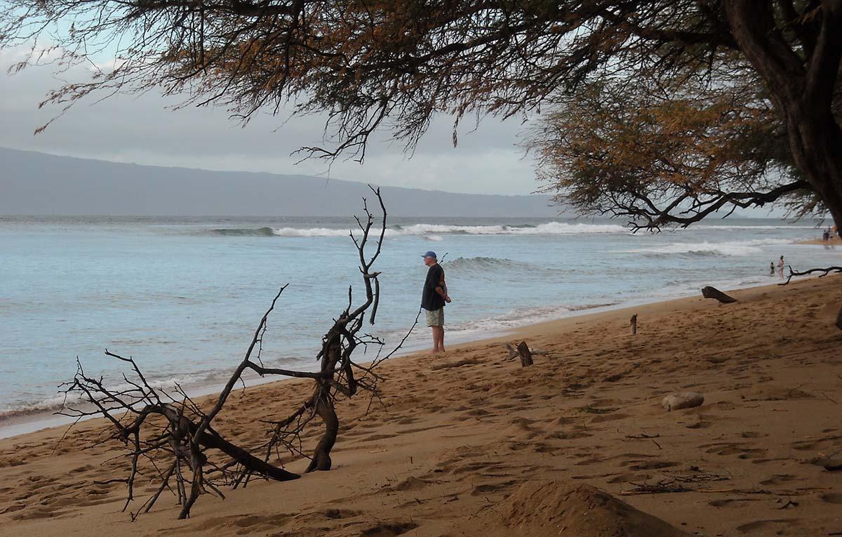 Bob Robertson on beach