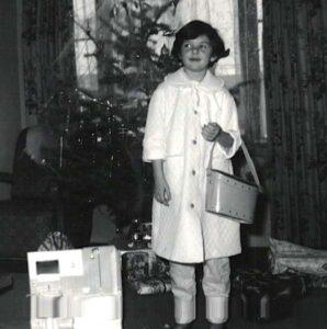 Linda with handbag